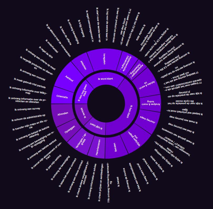 CX Life Cycle Model voorbeeld